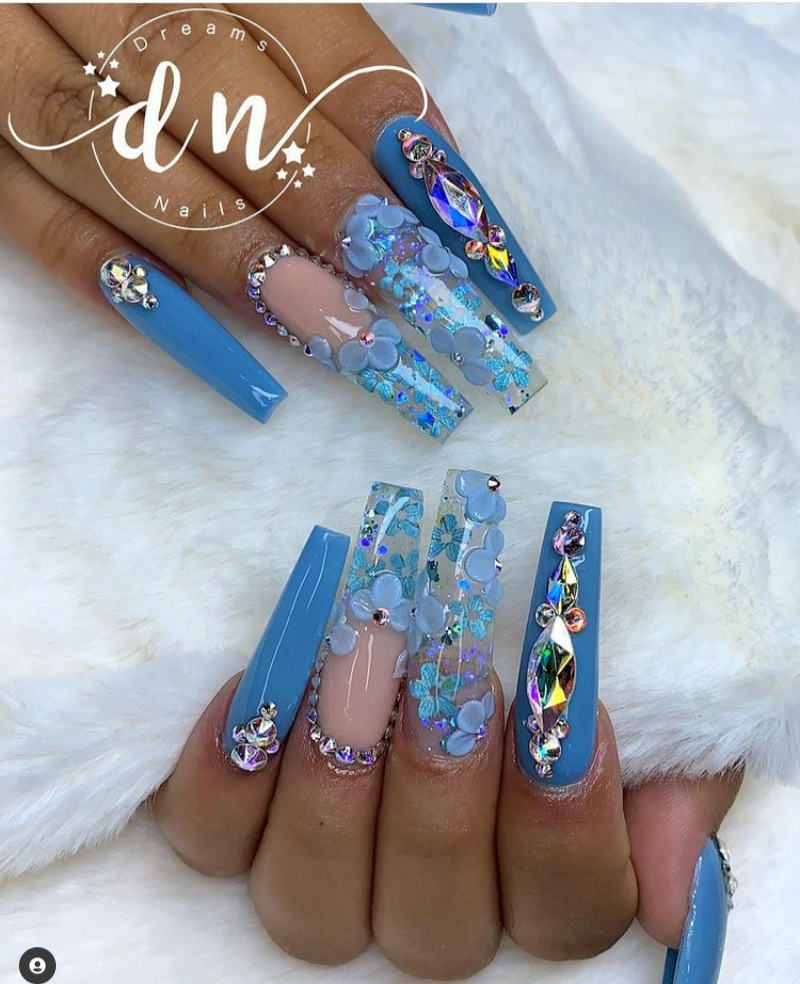 Blue Nails Designs