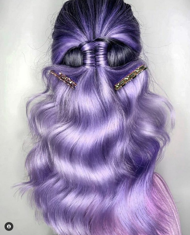 purple hairstyles