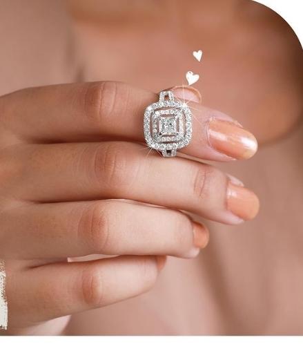 Princess-Cut Diamond Rings
