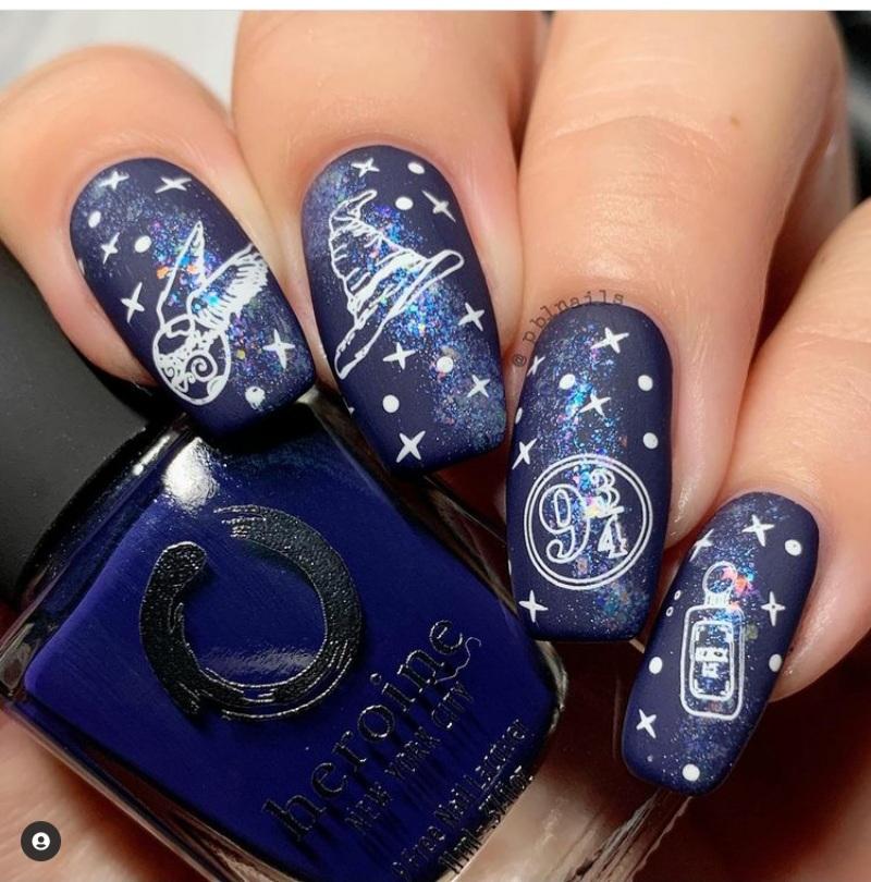 galaxy nails designs