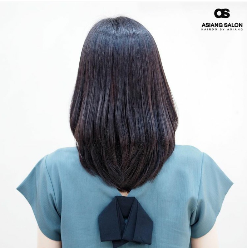 medium layered hair