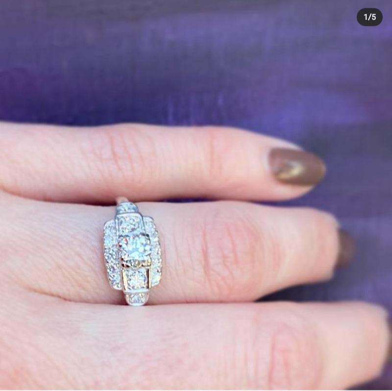 vintage diamond rings