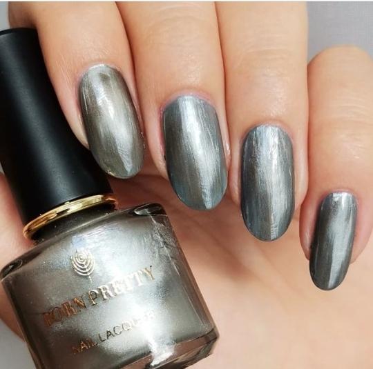 silver nail design  ideas
