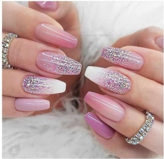 white ombre nail designs