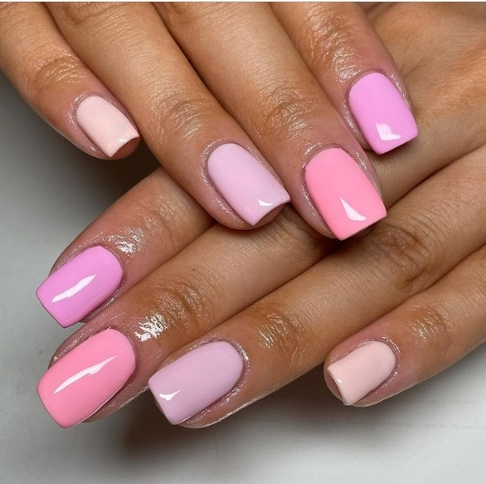 Gradient nail designs